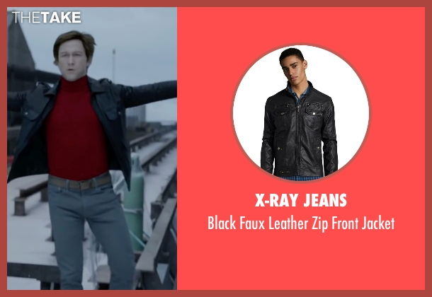 X-Ray Jeans black jacket from The Walk seen with Joseph Gordon-Levitt (Philippe Petit)