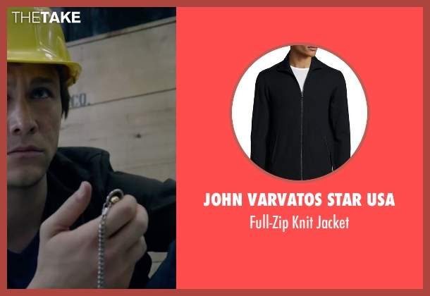 John Varvatos Star USA black jacket from The Walk seen with Joseph Gordon-Levitt (Philippe Petit)