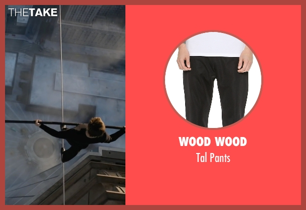 Wood Wood black pants from The Walk seen with Joseph Gordon-Levitt (Philippe Petit)