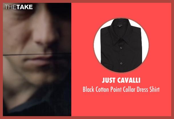 Just Cavalli black shirt from The Walk seen with Joseph Gordon-Levitt (Philippe Petit)