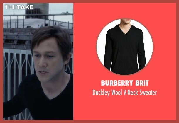 Burberry Brit black sweater from The Walk seen with Joseph Gordon-Levitt (Philippe Petit)