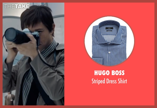 Hugo Boss blue shirt from The Walk seen with Joseph Gordon-Levitt (Philippe Petit)