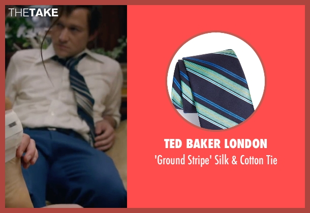 Ted Baker London blue tie from The Walk seen with Joseph Gordon-Levitt (Philippe Petit)