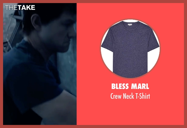 Bless Marl blue t-shirt from The Walk seen with Joseph Gordon-Levitt (Philippe Petit)