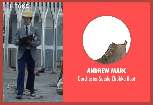 Andrew Marc brown boot from The Walk seen with Joseph Gordon-Levitt (Philippe Petit)