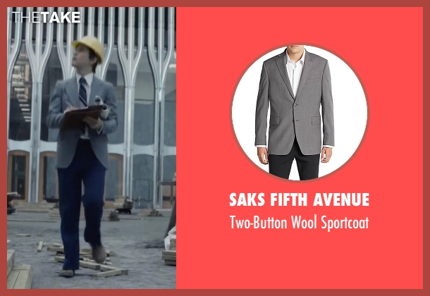 Saks Fifth Avenue gray sportcoat from The Walk seen with Joseph Gordon-Levitt (Philippe Petit)