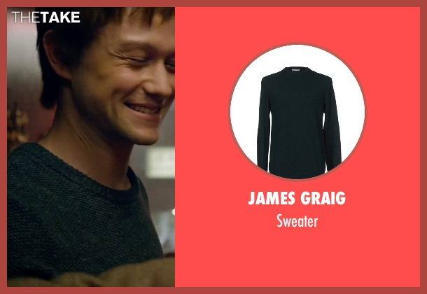 James Graig green sweater from The Walk seen with Joseph Gordon-Levitt (Philippe Petit)