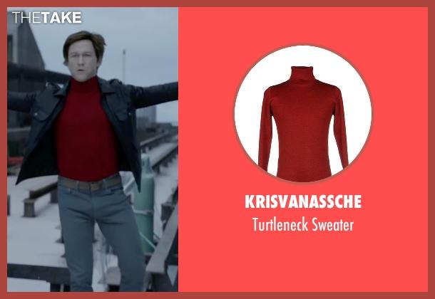Krisvanassche red sweater from The Walk seen with Joseph Gordon-Levitt (Philippe Petit)
