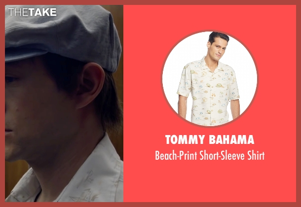 Tommy Bahama white shirt from The Walk seen with Joseph Gordon-Levitt (Philippe Petit)