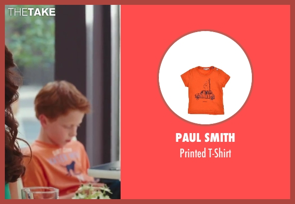 Paul Smith orange t-shirt from Sex and the City 2 seen with Joseph Pupo (Brady Hobbes)