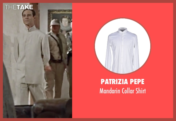 Patrizia Pepe white shirt from Dr. No seen with Joseph Wiseman (Dr. No)