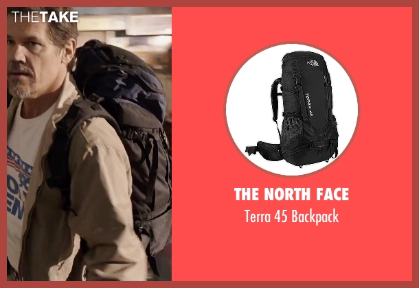 The North Face black backpack from Everest seen with Josh Brolin (Beck Weathers)