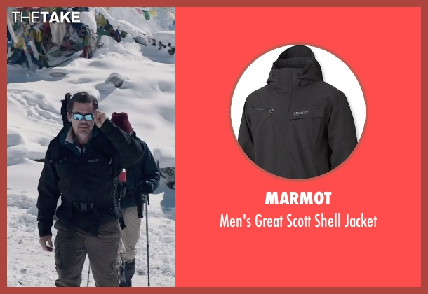 Marmot black jacket from Everest seen with Josh Brolin (Beck Weathers)