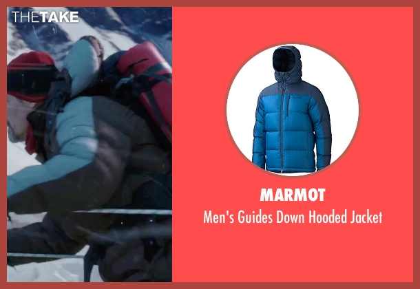 Marmot blue jacket from Everest seen with Josh Brolin (Beck Weathers)