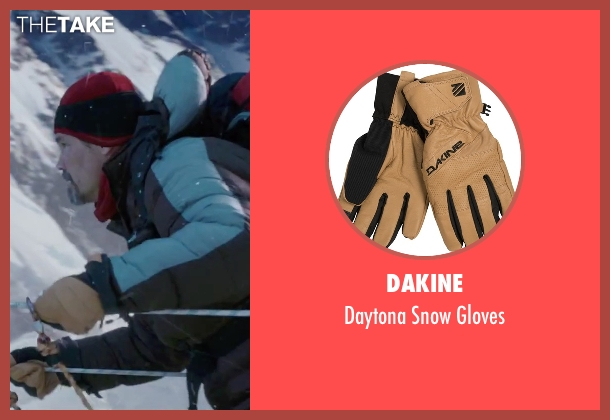 DaKine brown gloves from Everest seen with Josh Brolin (Beck Weathers)