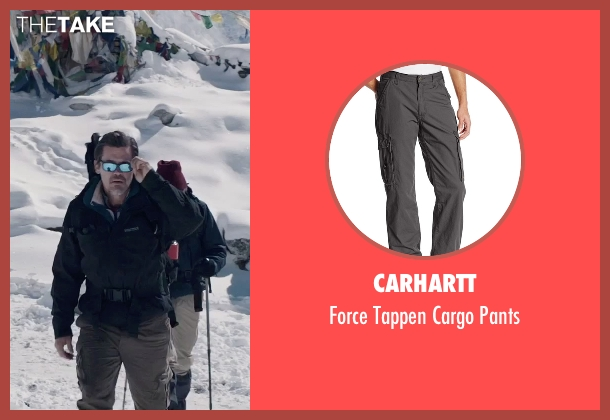 Carhartt gray pants from Everest seen with Josh Brolin (Beck Weathers)