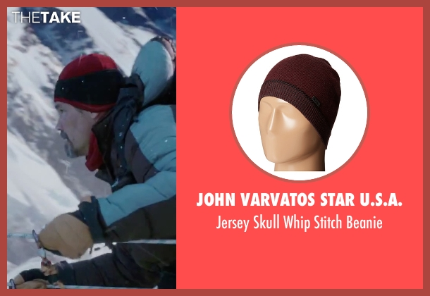 John Varvatos Star U.S.A. red beanie from Everest seen with Josh Brolin (Beck Weathers)