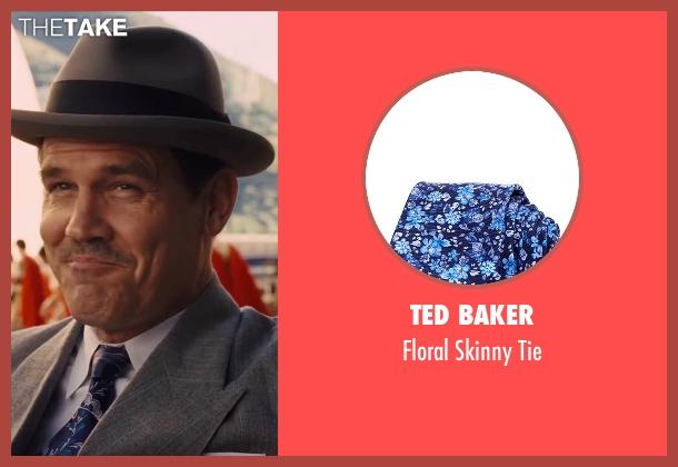 Ted Baker blue tie from Hail, Caesar! seen with Josh Brolin (Eddie Mannix)