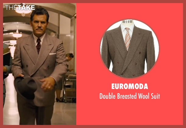 Euromoda brown suit from Hail, Caesar! seen with Josh Brolin (Eddie Mannix)