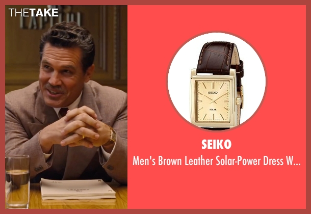 Seiko brown watch from Hail, Caesar! seen with Josh Brolin (Eddie Mannix)