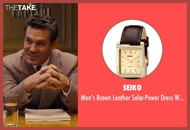 Seiko  brown watch from Hail, Caesar! seen with Josh Brolin (Eddie Mannix)