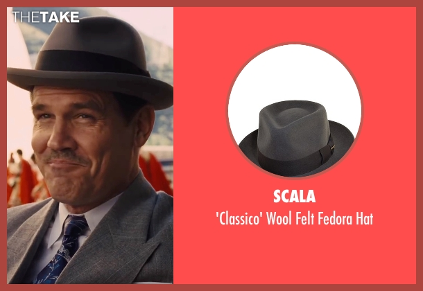 Scala gray hat from Hail, Caesar! seen with Josh Brolin (Eddie Mannix)