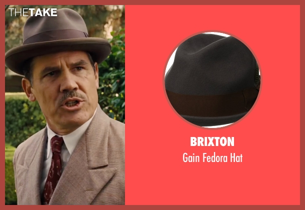 Brixton gray hat from Hail, Caesar! seen with Josh Brolin (Eddie Mannix)