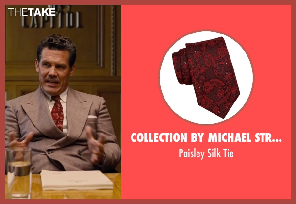 Collection by Michael Strahan red tie from Hail, Caesar! seen with Josh Brolin (Eddie Mannix)