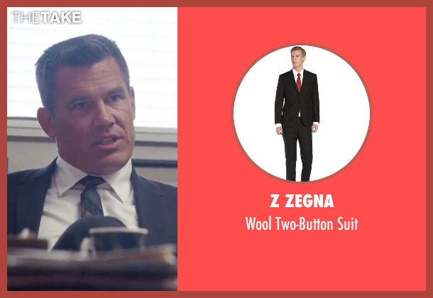 "Z Zegna black suit from Inherent Vice seen with Josh Brolin (Lt. Det. Christian F. ""Bigfoot"" Bjornsen)"