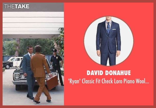 "David Donahue blue suit from Inherent Vice seen with Josh Brolin (Lt. Det. Christian F. ""Bigfoot"" Bjornsen)"