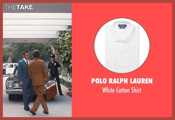 "Polo Ralph Lauren white shirt from Inherent Vice seen with Josh Brolin (Lt. Det. Christian F. ""Bigfoot"" Bjornsen)"