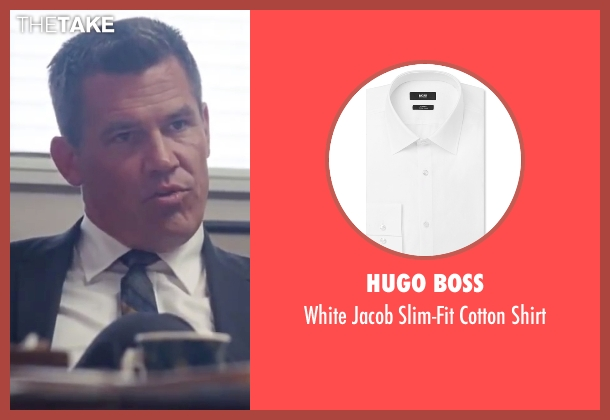 "Hugo Boss white shirt from Inherent Vice seen with Josh Brolin (Lt. Det. Christian F. ""Bigfoot"" Bjornsen)"