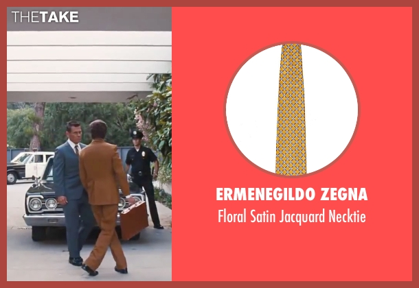 "Ermenegildo Zegna yellow necktie from Inherent Vice seen with Josh Brolin (Lt. Det. Christian F. ""Bigfoot"" Bjornsen)"