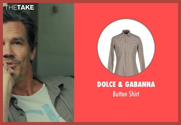 Dolce & Gabanna beige shirt from Sicario seen with Josh Brolin (Matt)