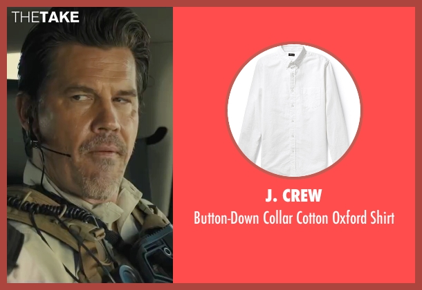 J. Crew white shirt from Sicario seen with Josh Brolin (Matt)