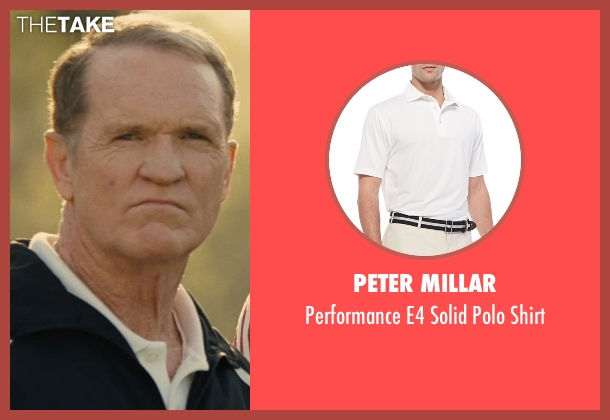 Peter Millar white shirt from McFarland, USA seen with Josh Clark (Coach Jameson)