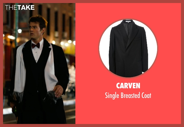 Carven black coat from New Year's Eve seen with Josh Duhamel (Sam)