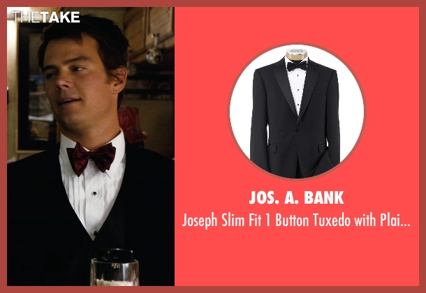 Jos. A. Bank black trousers from New Year's Eve seen with Josh Duhamel (Sam)
