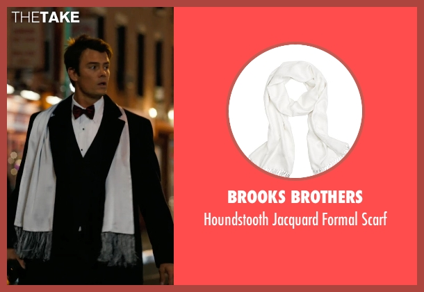 Brooks Brothers white scarf from New Year's Eve seen with Josh Duhamel (Sam)