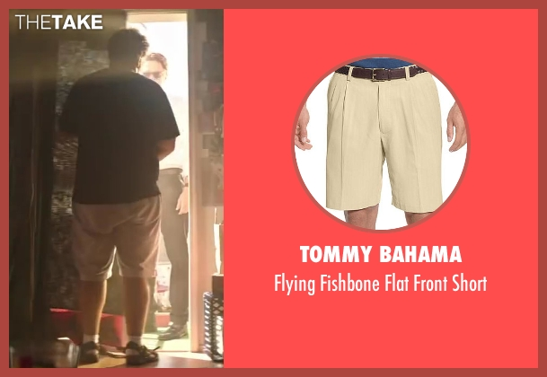 Tommy Bahama beige short from Wish I Was Here seen with Josh Gad (Jgayonah Bloom)
