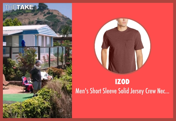 IZOD brown t-shirt from Wish I Was Here seen with Josh Gad (Jgayonah Bloom)