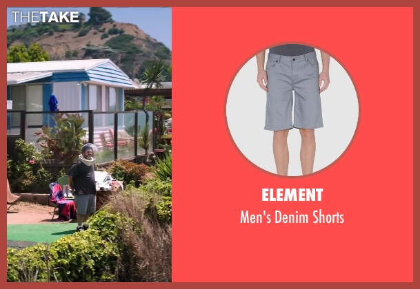 Element gray shorts from Wish I Was Here seen with Josh Gad (Jgayonah Bloom)
