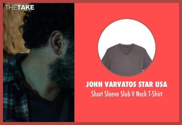 John Varvatos Star USA gray t-shirt from Wish I Was Here seen with Josh Gad (Jgayonah Bloom)