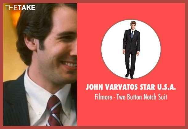 John Varvatos Star U.S.A. black suit from Crazy, Stupid, Love. seen with Josh Groban (Richard)