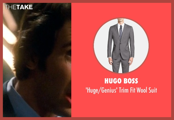 Hugo Boss gray suit from Crazy, Stupid, Love. seen with Josh Groban (Richard)