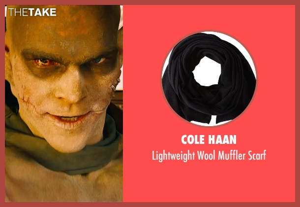 Cole Haan black scarf from Mad Max: Fury Road seen with Josh Helman (Slit)