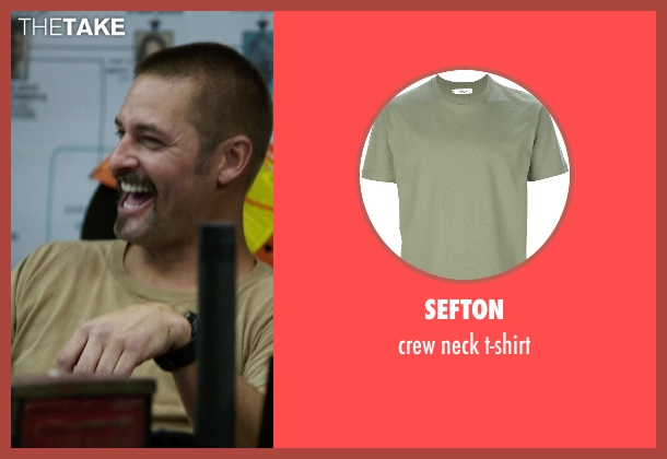 SEFTON green t-shirt from Sabotage seen with Josh Holloway (Eddie 'Neck' Jordan)