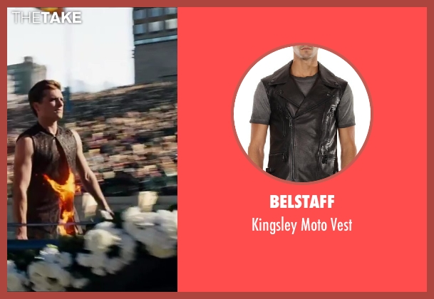 Belstaff black vest from The Hunger Games: Catching Fire seen with Josh Hutcherson (Peeta Mellark)
