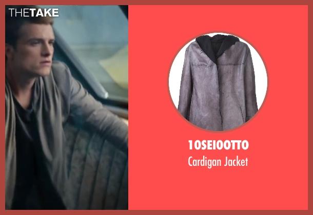 10sei0otto gray jacket from The Hunger Games: Catching Fire seen with Josh Hutcherson (Peeta Mellark)