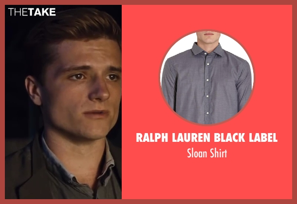 Ralph Lauren Black Label gray shirt from The Hunger Games: Catching Fire seen with Josh Hutcherson (Peeta Mellark)